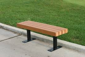 Outdoor Table Plastic Frog Furnishings Trailside Recycled Plastic Park Bench U0026 Reviews