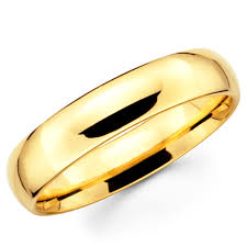 wedding band malaysia solid 14k yellow gold 2mm 3mm 4mm 5mm 6mm comfort fit menwomen