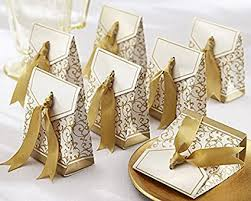 wedding party favor boxes gold ribbon wedding favor boxes home kitchen