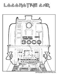 kids train coloring page of old fashioned steam engine train