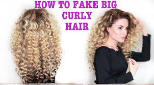 how to fake big naturally curly hair with subs youtube