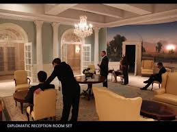 how to design white house set for tv domino