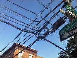history of undergrounding electrical wires in center city