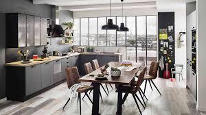 cuisine bois et metal cuisine bois metal impressionnant cuisine équipée design et moderne