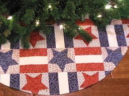 americana tree skirt patriotic tree by kaysgeneralstore