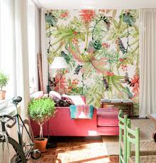 add a touch of the tropics to your home for summer colorful tropical wallpaper freshens this space