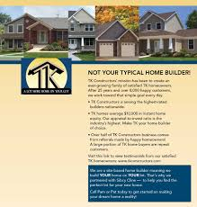 tk homes floor plans new home construction built by tk