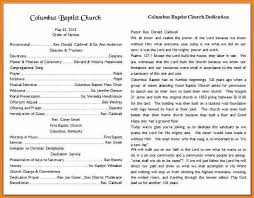 7 church bulletins templates resume reference
