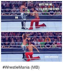 Vote For Me Meme - vote for me ll give you stuff ok being libertarian wrestlemania mb