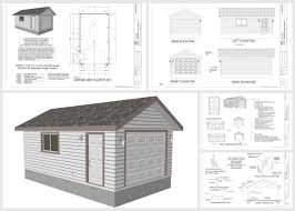 cottage garage plans 14 x 24 x 8 garage planswith pdf and dwg sds plans