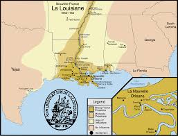 louisiana map areas new settlements and areas of influence in the louisiana