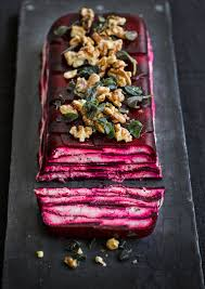 Easy Starters Recipes For Dinner Parties Vegetable Terrine With Beetroot And Goat U0027s Cheese Olive Magazine