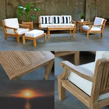 Patio Furniture In San Diego Teak Round Patio Table And Chairs Set Tableteak Tables San Diego