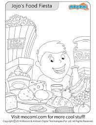 jojo u0027s food fiesta jojo colouringpage kids free