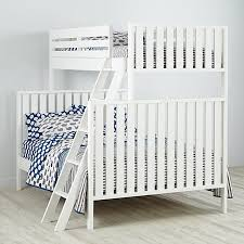 Twin Over Full Cargo Bunk Bed White The Land Of Nod - Land of nod bunk beds