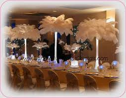 Feather Vase Centerpieces by Ostrich Feathers