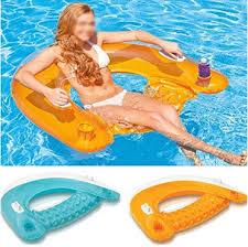 siege de piscine gonflable lqz tm fauteuil gonflable piscine flottant poignée porte gobelet