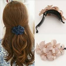 flower hair clip aliexpress buy solid flower hair ornaments fashion