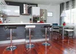 Interior Design Modern Kitchen Beautiful Modern Kitchen In Designer House Stock Photo Picture