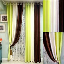 Solid Color Curtains Coffee Green White Color Matching Curtains The Curtain Of The