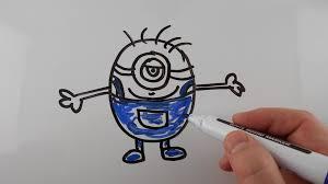 draw minion kids drawing whiteboard