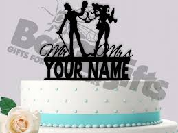 harley cake topper the joker and harley quinn cuffs mr mrs personalized wedding