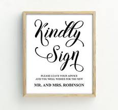 Mr And Mrs Sign For Wedding Kindly Sign Wedding Sign Decor Advice For The Mr And Mrs