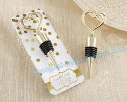 wedding souvenir gold heart shaped bottle stopper wedding favor wj108 wedding