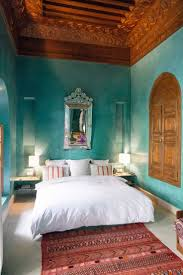 Blue Bedroom Furniture by Moroccan Themed Bedroom Decorating Ideas White Clothed Cushions