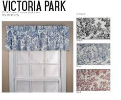 Toile Window Valances Victorian Toile Tailored Valance Window Treatments Www