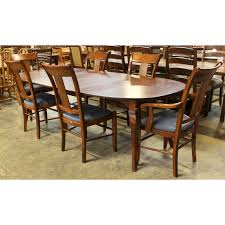 nichols u0026 stone dining table with 6 chairs upscale consignment
