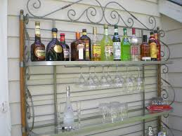 Metal Bakers Rack With Wine Storage Ideas Wrought Iron Bakers Rack For Inspiring Best Material Of