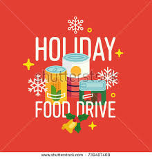 food drive poster template free holiday food drive vector concept illustration stock vector