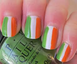never enough nails irish flag mani