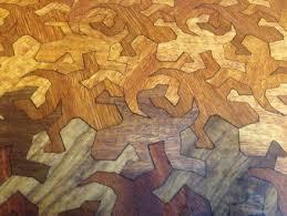 mc escher lizard cheese board by degoose lumberjocks com