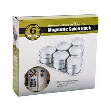 portaspezie magnetico portaspezie magnetico con supporto 6 barattoli ebay