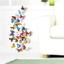 home decor 3d stickers colorful design 3d butterfly wall sticker decor butterflies art wall