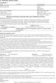 diagnostic report template genoacademy