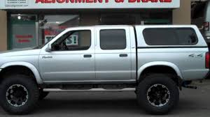 nissan frontier camper shell cal mini lift nissan frontier at dales auto service langley youtube
