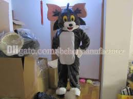 halloween mascot costumes cheap tom and jerry mascot costume high quality brown plush cat and
