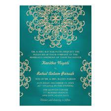 indian wedding invites teal and gold indian style wedding invitation zazzle co uk