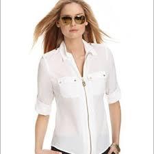 michael kors blouses buy michael kors zipper blouse off78 discounted