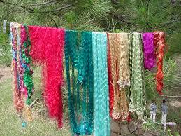 sari silk ribbon sari silk waste one pound