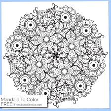 free printable mandala coloring page 4 make breaks