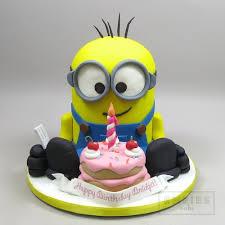 minion birthday cakes minion with birthday cake empire cake