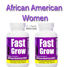 Biotin African American Hair Growth Fast Grow Ethnic Hair Growth Vitamins 2 Bottles For Faster Growing