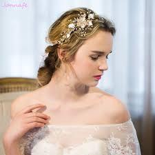 where to buy headbands aliexpress buy jonnafe delicate gold pearl jewelry headband