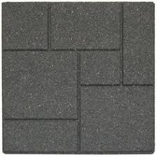 Recycled Rubber Patio Tiles by 24 In X 24 In Xl Brick Black Rubber Paver 40 Pack Bricks