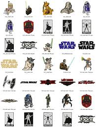 star wars text art embroidery designs set 2 sizes embroidery
