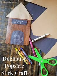 doghouse popsicle stick craft for preschoolers crystalandcomp com